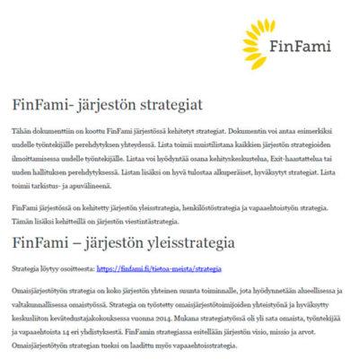 FinFamin strategiat perehdytyksen tukena