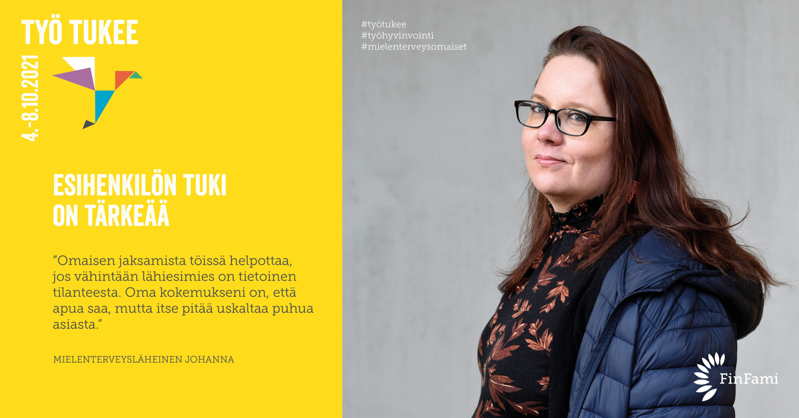 FinFamin Työ tukee -kampanjakuva