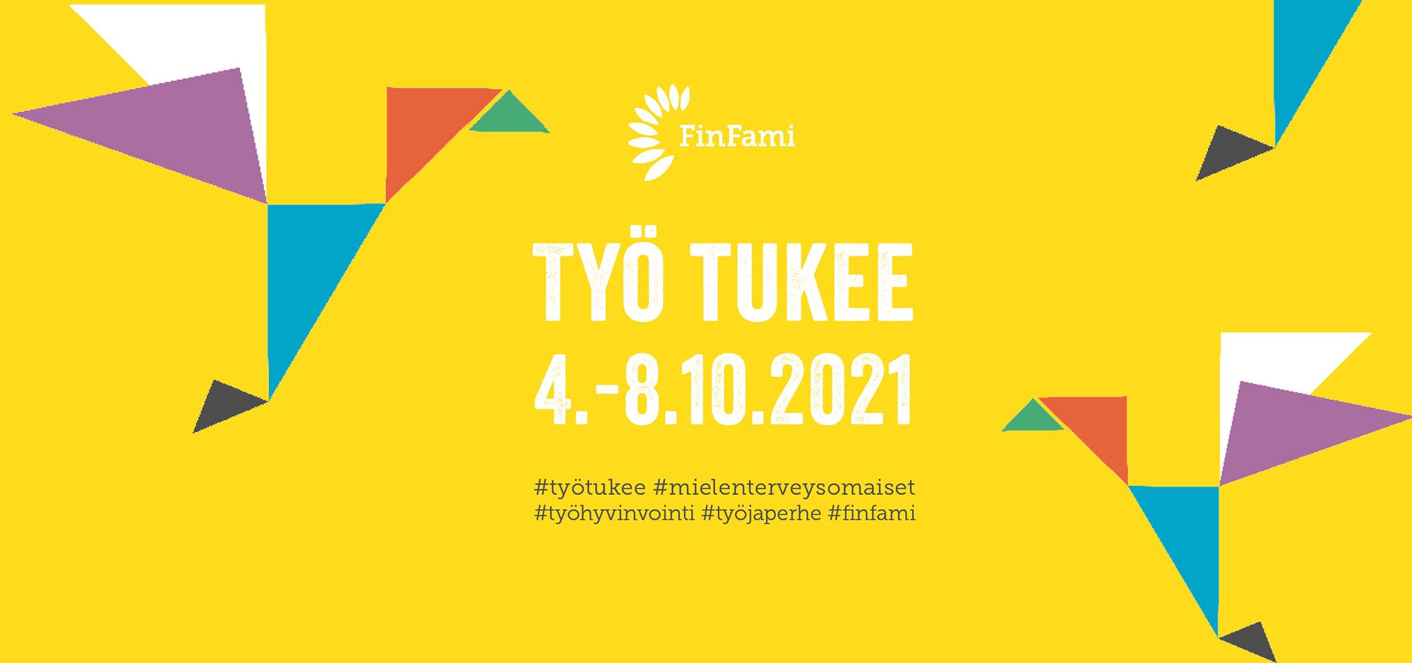 FinFamin Työ tukee -kampanjan mainoskuva